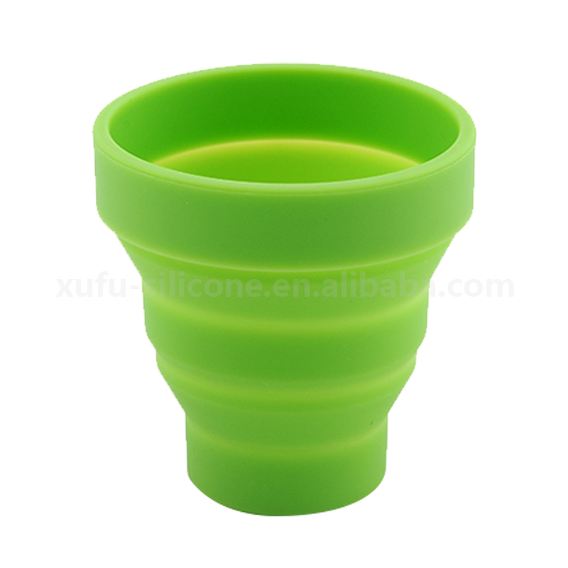 Fashion transformable coffee cup soft folding silicone drinking cup