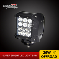 4 inch atv accessories 36w led car headlights marine work light Small working light bar 12v led light CREE