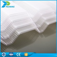 Clear sunroom corrugated plastic sheets for roofing price