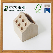 Trade assurance handicraft natural wood custom wooden cup holder