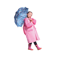 Plastic pvc cartoon Kids Children child girls raincoat clear plastic rain coats