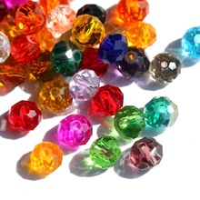 <strong>Pujiang</strong> Manufacturer 8mm Colorful Lampwork Round Glass Rondelle Jewellery Crystal Fashion Beads For Earring Jewelry Making