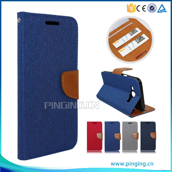 PU Leather flip with card slots case for Lenovo A7010 , cover case for Lenovo A7010