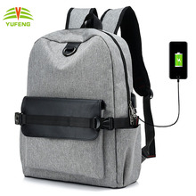 2018 Wholesale Alibaba China Supplier Leisure Rucksack Back Pack with USB Charger Port Backpack For Teenager