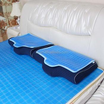 Comfort summer sleep neck rest PU cooling gel pad on pillow View