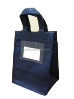 Non woven wine bag with clear window