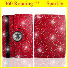 Case for iPad4 Case for iPad air Case for iPad mini Case for iPad 4 Glitter Bling Style Rotating 360 Leather With Sleep Wake Up