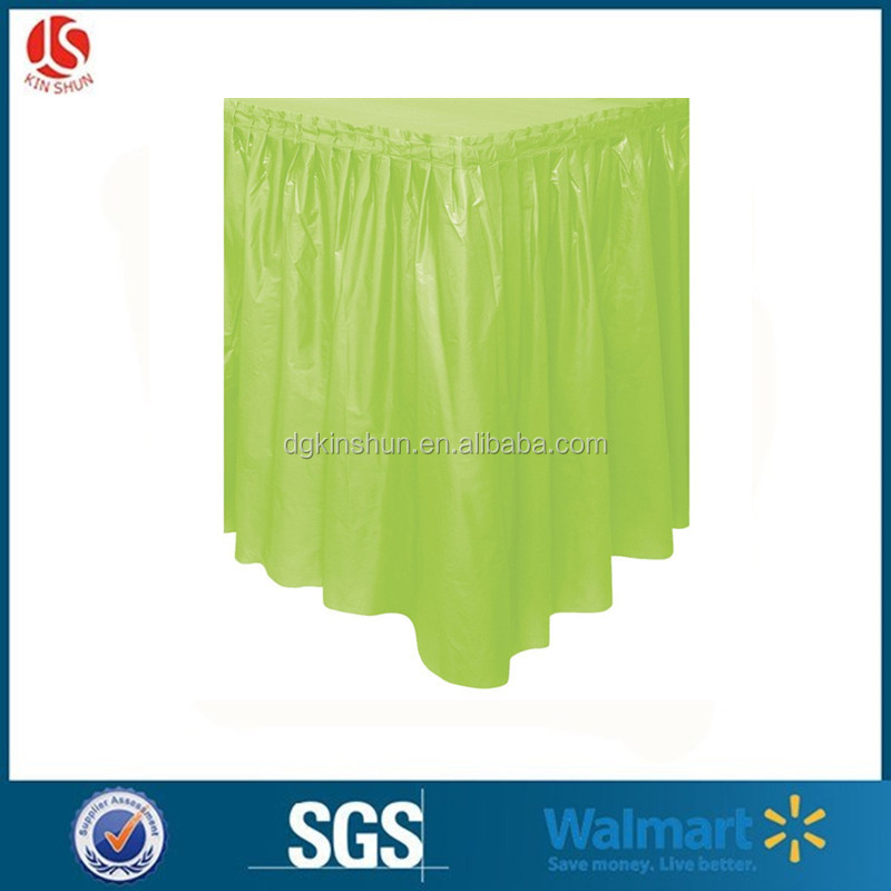 New arrival beautiful ruffled picnic table skirt one time use table cloth