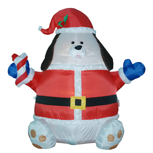 2017 Most popular Inflatable fat christmas decoration dog