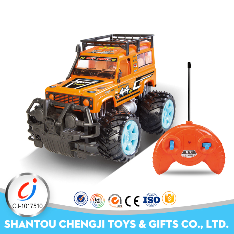 Newest design hobby high speed child plastic toy rc 4 wheel drive trucks for sale