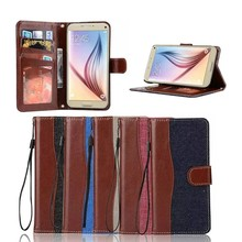 Hybrid Jeans Leather envelope Case for Samsung S7,Cover for Samsung S7