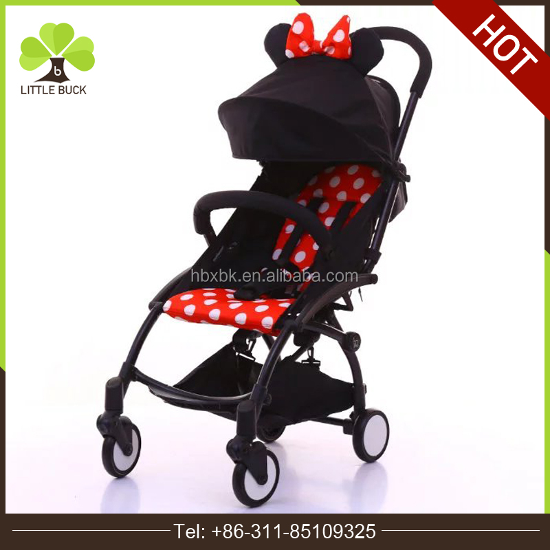 2016 New hot selling lightweight cheap one hand easy quick fold 2 in 1 baby pram baby doll stroller