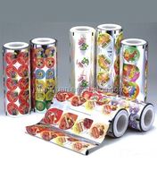 Printed peelable lidding film for plastic PP/PS/PET/PVC container
