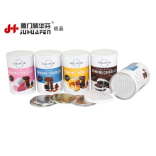 Paper Food Powder Coffee Can with Aluminum EZ Lid Packaging Tube