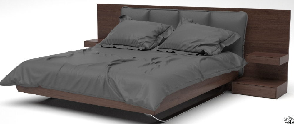 2016 Latest Designs Walnut Wood Big Headboard King Size Bed For Home Or Hotel