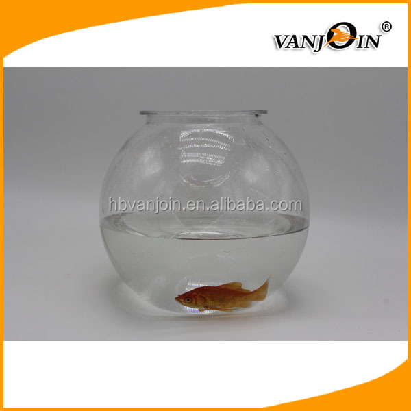 Clear PET plastic round Goldfish bowl/small plastic fish bowls BPA free