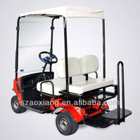 two seater battery powered utility vehicle with AGM battery