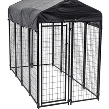 12x12x6 foot classic galvanized outdoor dog kennel