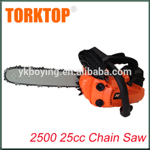 China supply gasoline 2500 petrol cheap chainsaw with spare parts