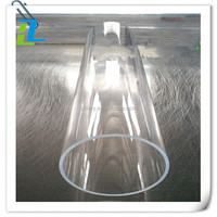 13/10mm Acrylic Tube 60cm 4-Pack - ,Clear Large Diameter Transparent Home Display Acrylic Tube