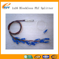 1 input 16 output 0.9mm loose steel tube Blockless 1x16 1x8 Fiber Optical PLC Splitter with SC PC UPC APC Connectors