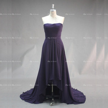 Eelegant Strapless Short Front Long Back Chiffon Evening Dress Women In China