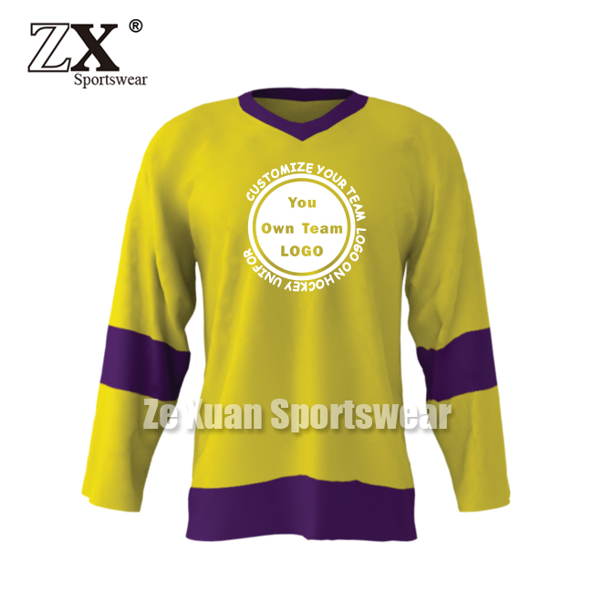 China gold supplier Best Choice ice hockey jersey and shirt custom