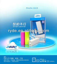 Portable mobile charger Power bank 2800mAh 2600mAh
