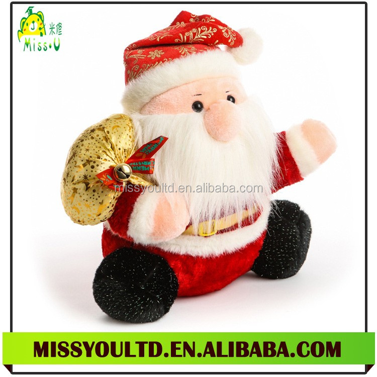 Direct Manufacturer Plush Santa Claus Dolls For Christmas Present