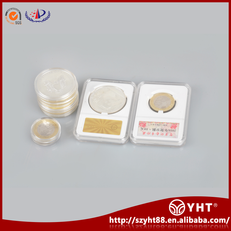 Quality guarantee single acrylic storage display box for coin collector