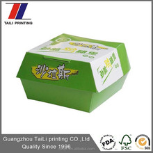 High quality food grade paper board box/Paper lunch box &Hamburger Box with Custom Printing