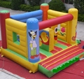 Small inflatable bounce house for party show