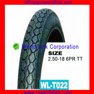 Good Quality Rubber Motorcycle Tyre for Sale 2.50-18