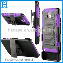 For Note 3 Case, Armor Holster Kickstand Combo Case for Samsung Galaxy case