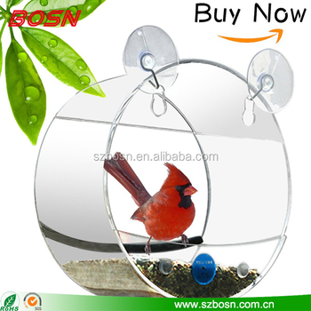 Contempo Creatures Window Bird Feeder for Wild Birds Strong and Secure Suction Cups