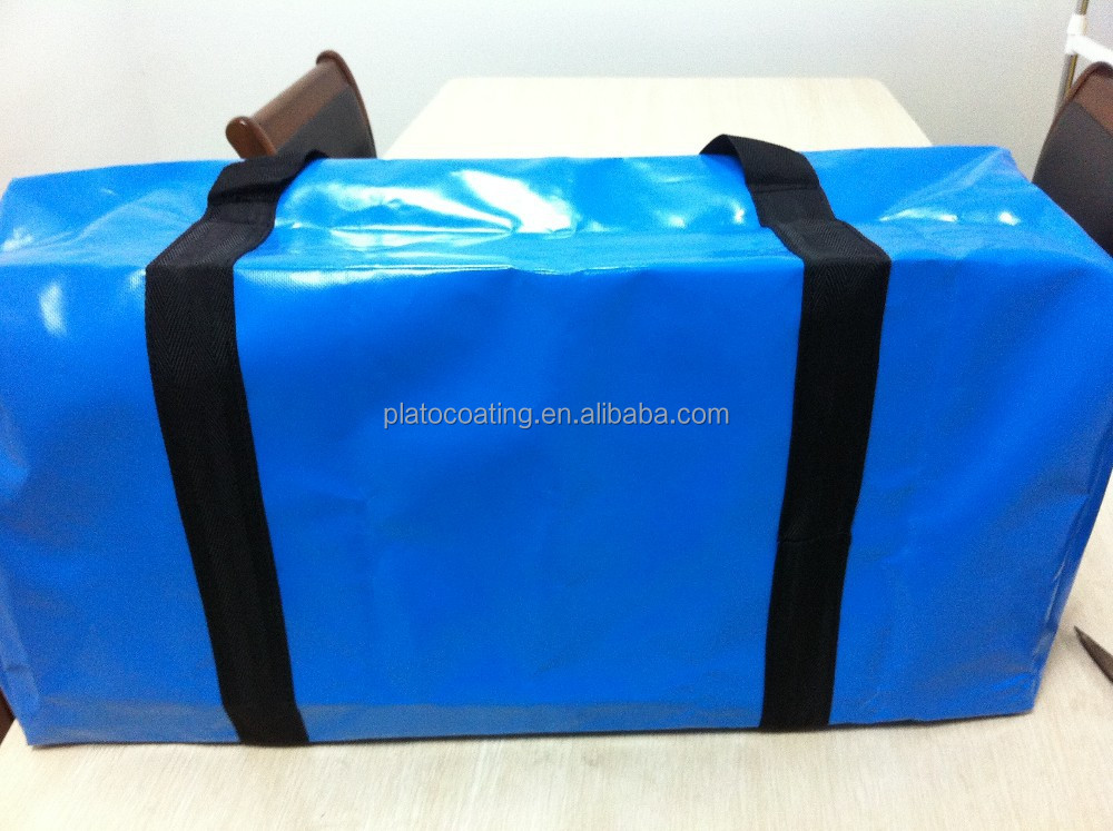 Customized waterproof woven tarp bag made in pvc tarpaulin fabrics