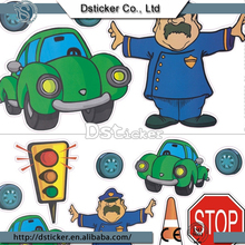 2016 Safety Healthy Cartoon Character Wall Stickers