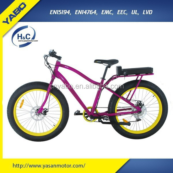 "Li-ion battery 48v 26"" electric bicycle ,fat tire beach cruiser 500w for sale"