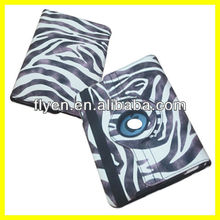 Zebra Pinto Style 360 Rotating Case For iPad Mini Magnetic Ultra Slim Smart Cover PU Leather Case Stand Wholesale Good Price