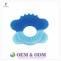 Free Sample wholesale Food grade silicone teething toy baby teether