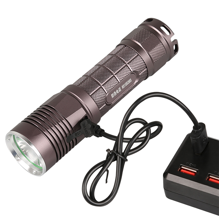 SupFire L5-S new model USB flashlight 2 switch powerful torch XML2 <strong>U2</strong> LED flash light