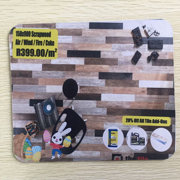 Custom AD promotion mousepad DIY size natural rubber polyester fabric mouse pads