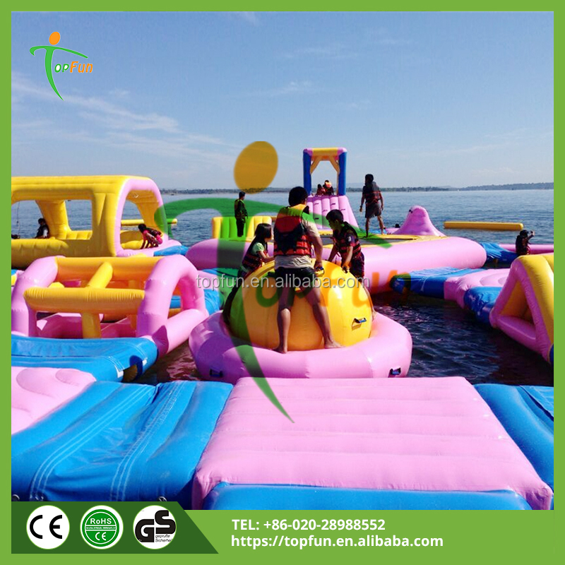 Adult giant sea floating Inflatable water park games