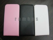 Flip Down Genuine Leather Skin Protector Back Cover Case for iPhone 5