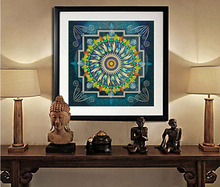 Nepal buddhist shrine mandala faith buddha oil canvas art painting wall tibet thangka art painting printed home decor