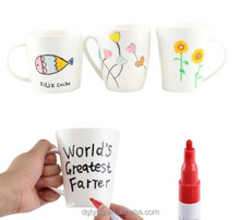 Art Permanent Marker Pens for DIY Ceramic Mugs Crockeries Stone Painting Strong Pigments to Paint