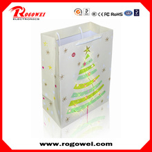 New design 2015 christmas glowing paper bag with great price