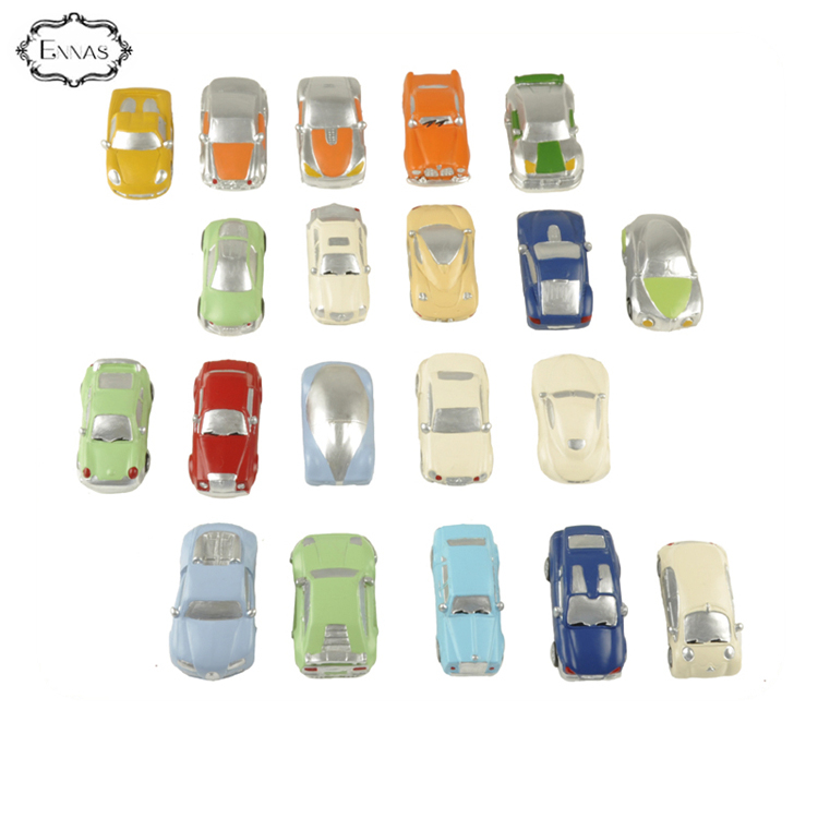 Hand painted resin mini car model for boy gift