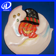 Fashion Halloween Ghost Cersmic Decorative Plate Ceramic
