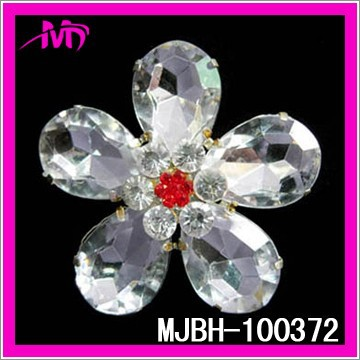 Wholesale rhinestone brooch pin with arcylic MJBH-100372